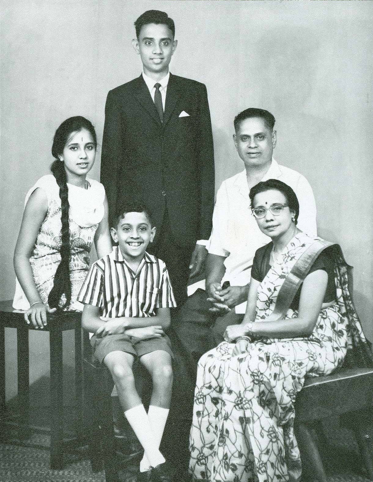 The Kulkarni Family Dr Suresh B Kulkarni Standing Dark Suit