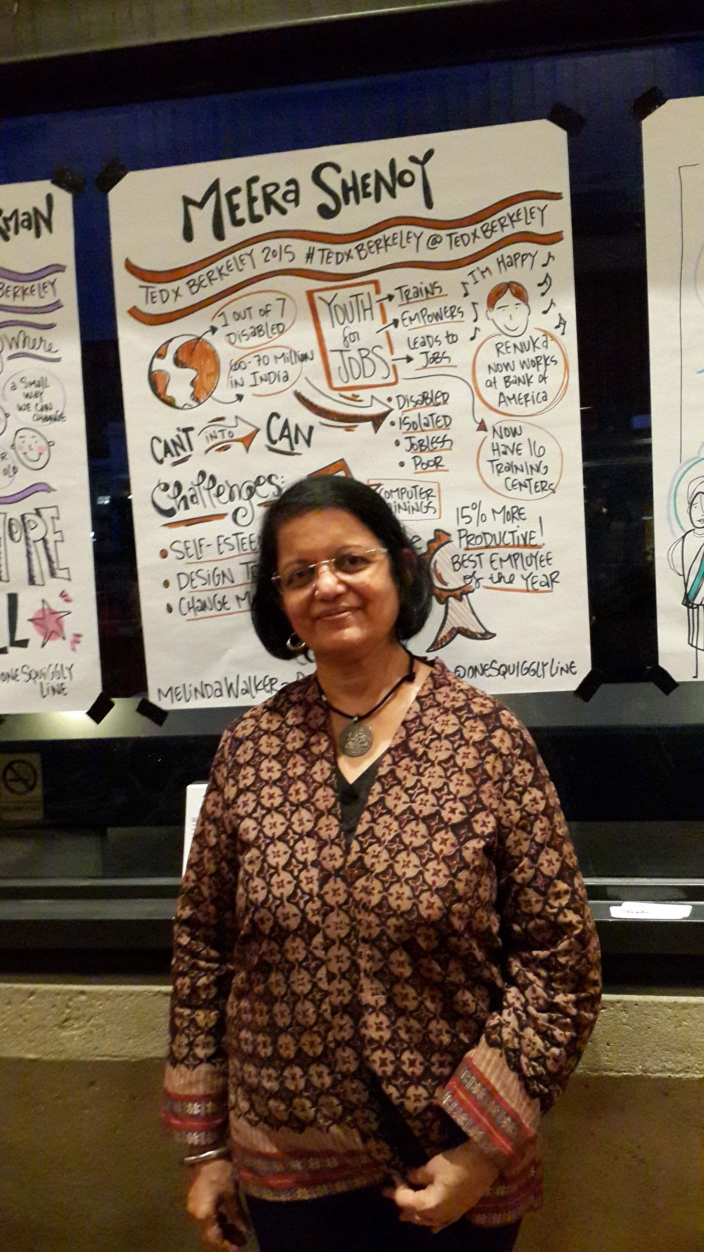this w has trained over 6000 disabled people and placed them meera shenoy at tedx berkeley