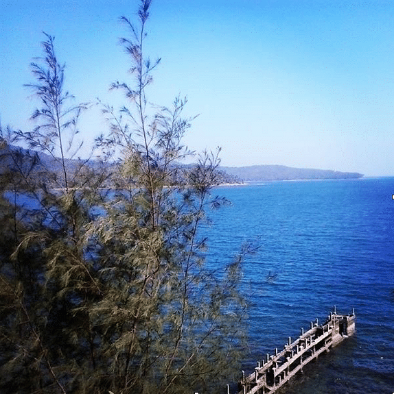 The balcony view at the Fortune Resort Bay Island, Port Blair