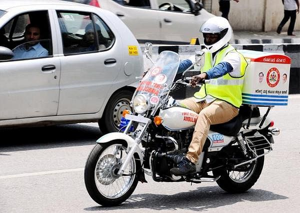 The bike ambulance will be of great help in emergency road accident cases.