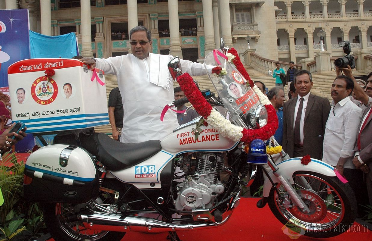 CM Siddaramaiah at the launch of the bike.