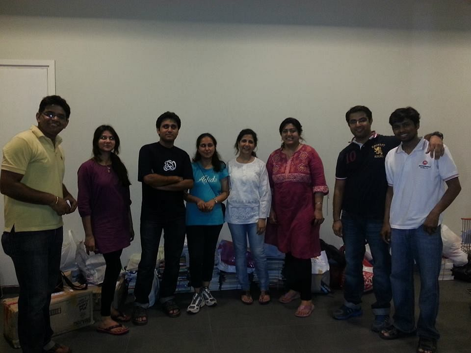 The team of Equal Sky at Prestige Shantiniketan.