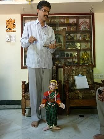 Bhaskar Kamath with string puppet.