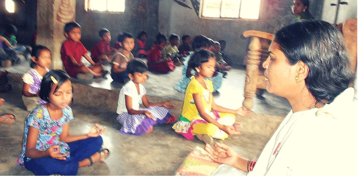 Savitri has been teaching yoga to kids for free.