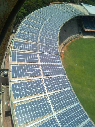 Chinnaswamy stadium is probably the first sport complex in the country to get solar power at such large scale.