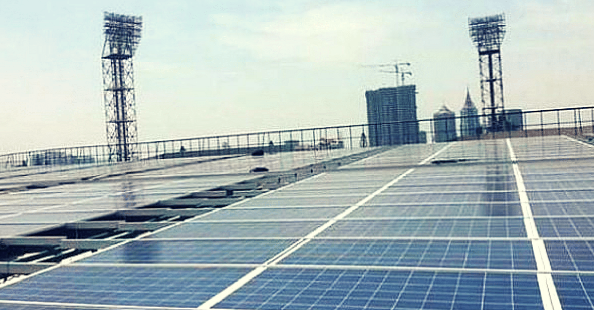 Bengaluru's Chinnaswamy Stadium Becomes The World's First Solar-Powered Cricket Venue