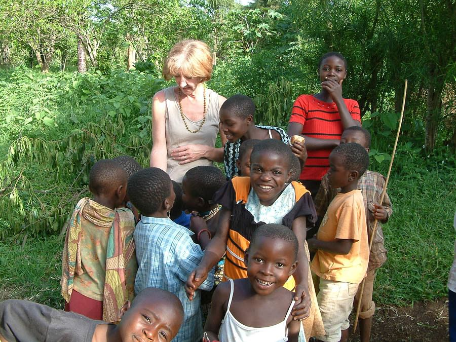 Helene at Rsenwande with kids