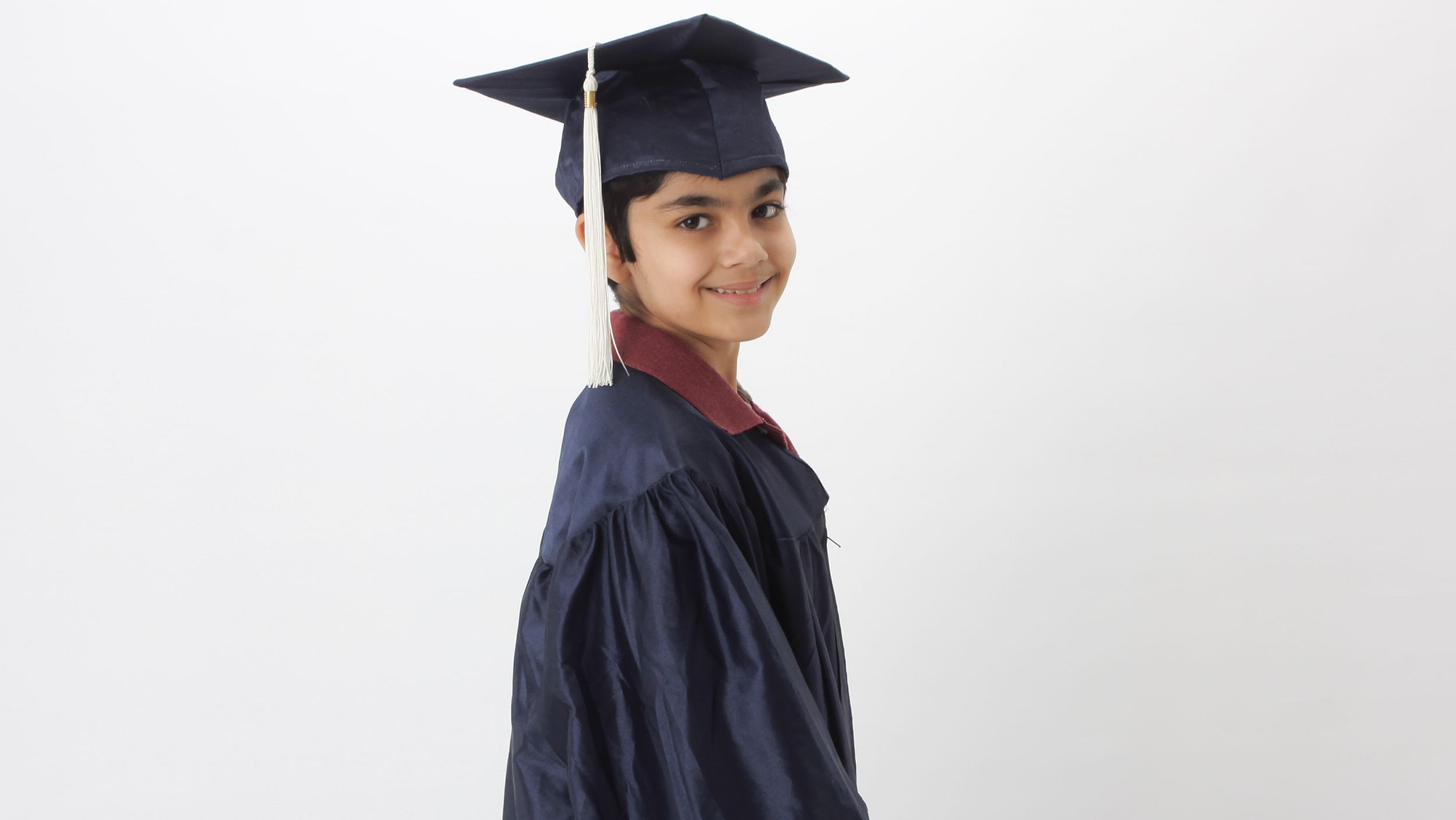 10 Year-old Indian American Tanishq Abraham graduating from school