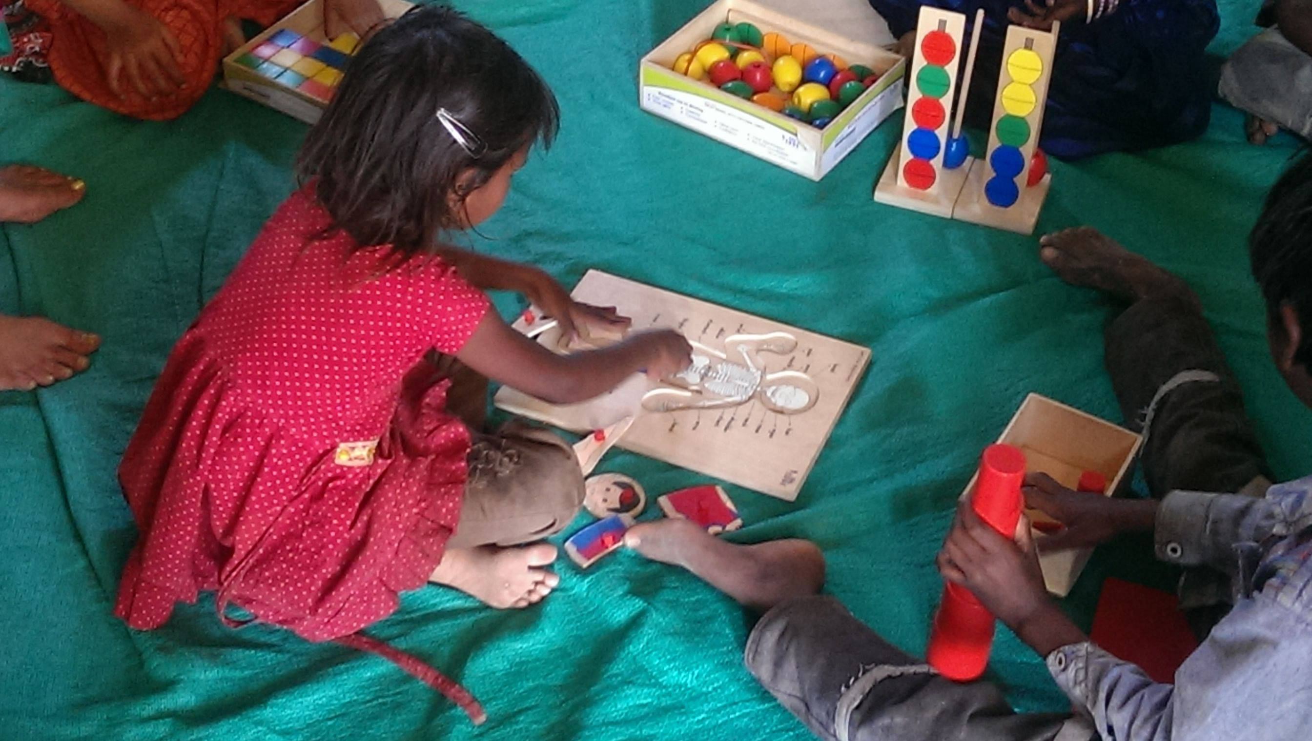 Montessori provides children freedom to learn on their own.