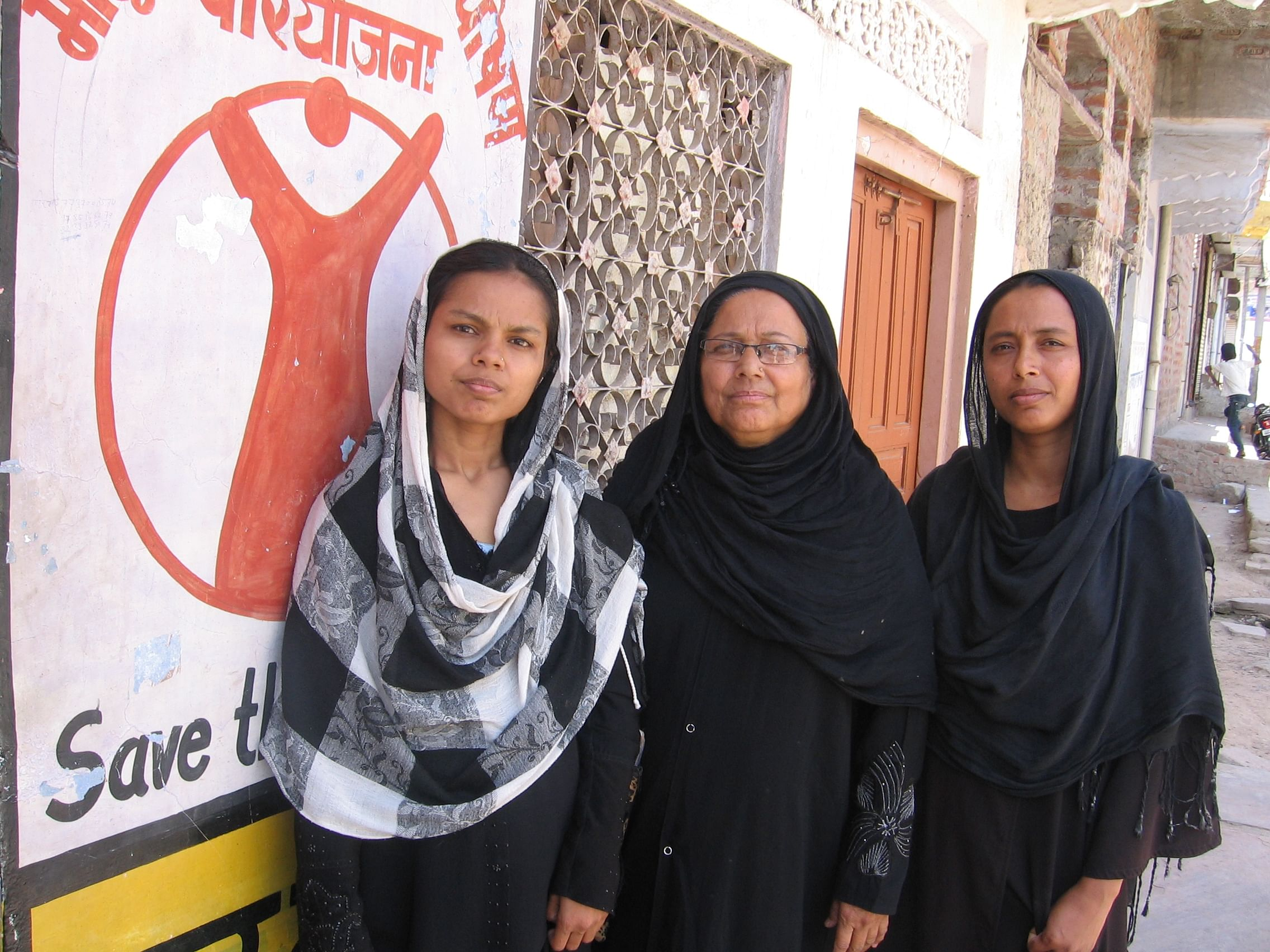 From left) Saira, Shahjahan and Sameena are three of the many conscientious community volunteers who have joined hands with religious leaders under a special initiative that aims to improve the overall health of the over 1.6 lakh Muslims living in Tonk, in Rajasthan. (Credit: Abha Sharma/WFS)