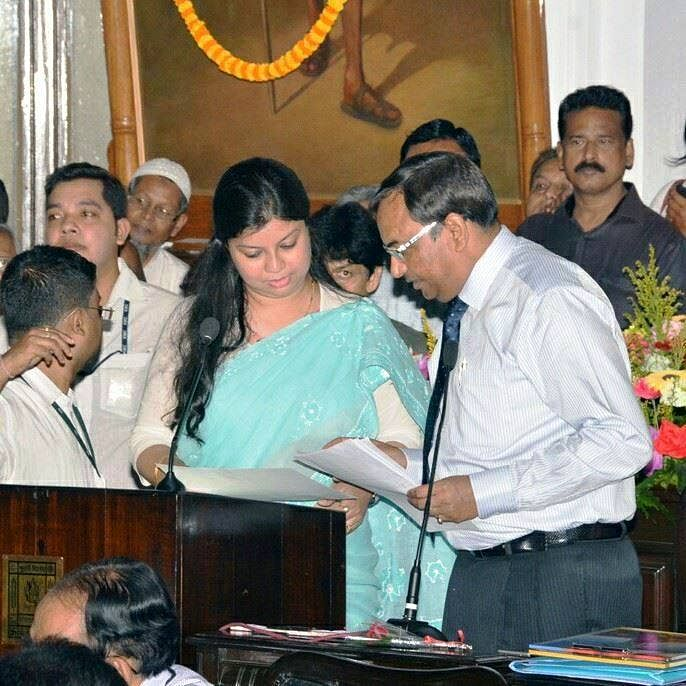 """Two-time councillor Jui Biswas from the ruling Trinamool Congress (TMC) wants to """"lead by example"""" and put her MBA degree to good use to draw up specific plans for the betterment of the city. (Credit: Saadia Azim\WFS)"""