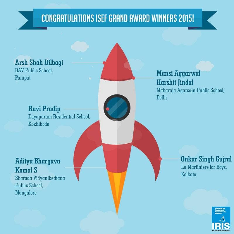 Poster Congratulating Intel ISEF winners 2015 from India