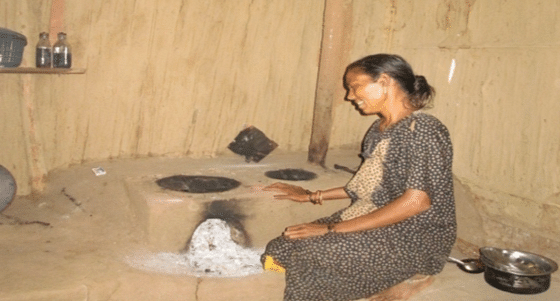 The chulhas are smoke free and two things can be cooked at the same time,