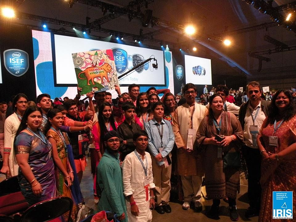 Team India at the 2015 ISEF opening ceremony - Pittsuburg USA