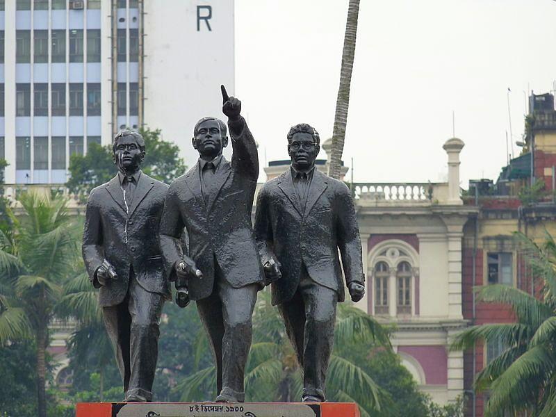 The trio Benoy Badal Dinesh