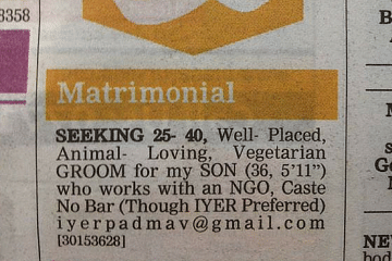 #gay matrimonial ad