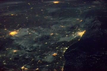 india_from_space