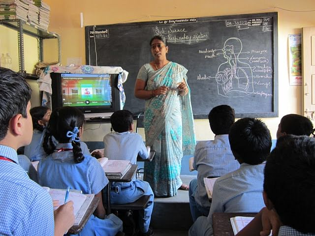 A teacher beginning to use WebBox at one of the pilot schools
