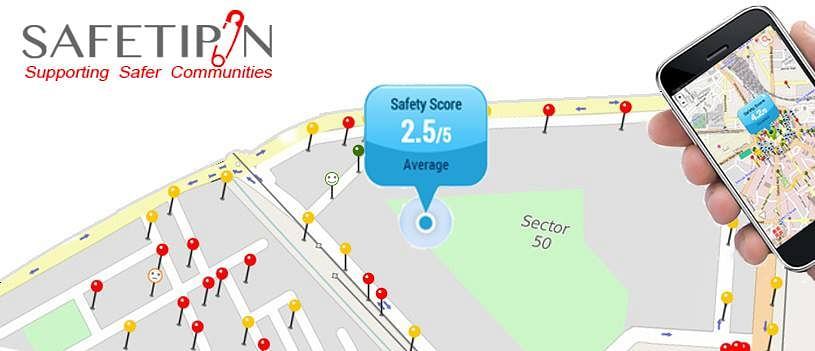 Safetipin also enables users to look for nearest hospitals and police stations.