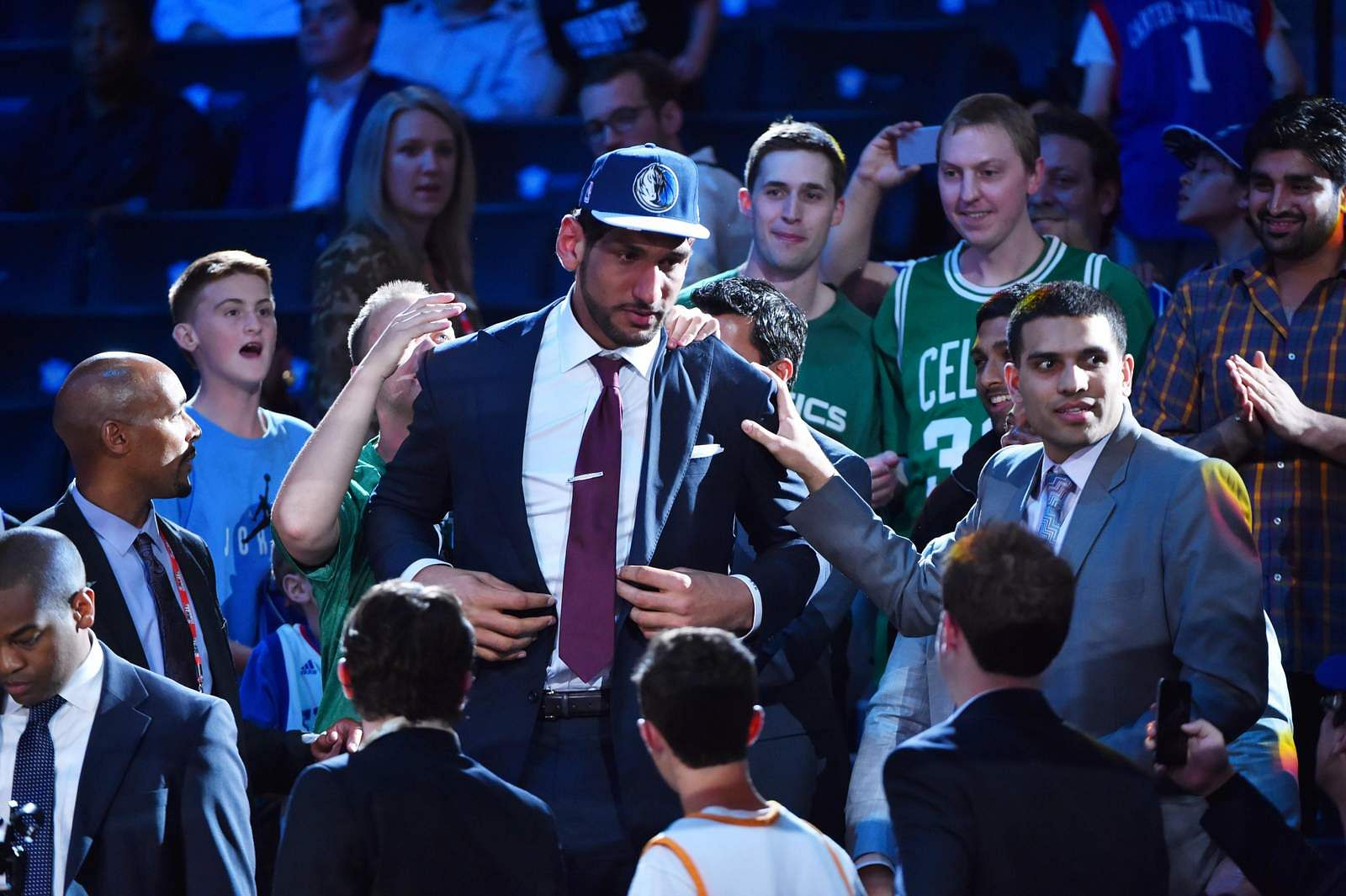 BROOKLYN, NY - JUNE 25:  Satnam Singh the 52nd pick overall in the NBA Draft by the Dallas Mavericks during the 2015 NBA Draft at the Barclays Center on June 25, 2015 in the Brooklyn borough of New York City. NOTE TO USER: User expressly acknowledges and agrees that, by downloading and/or using this photograph, user is consenting to the terms and conditions of the Getty Images License Agreement.  Mandatory Copyright Notice: Copyright 2015 NBAE (Photo by Jesse D. Garrabrant/NBAE via Getty Images)