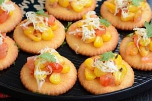 Salted Crackers with Toppings