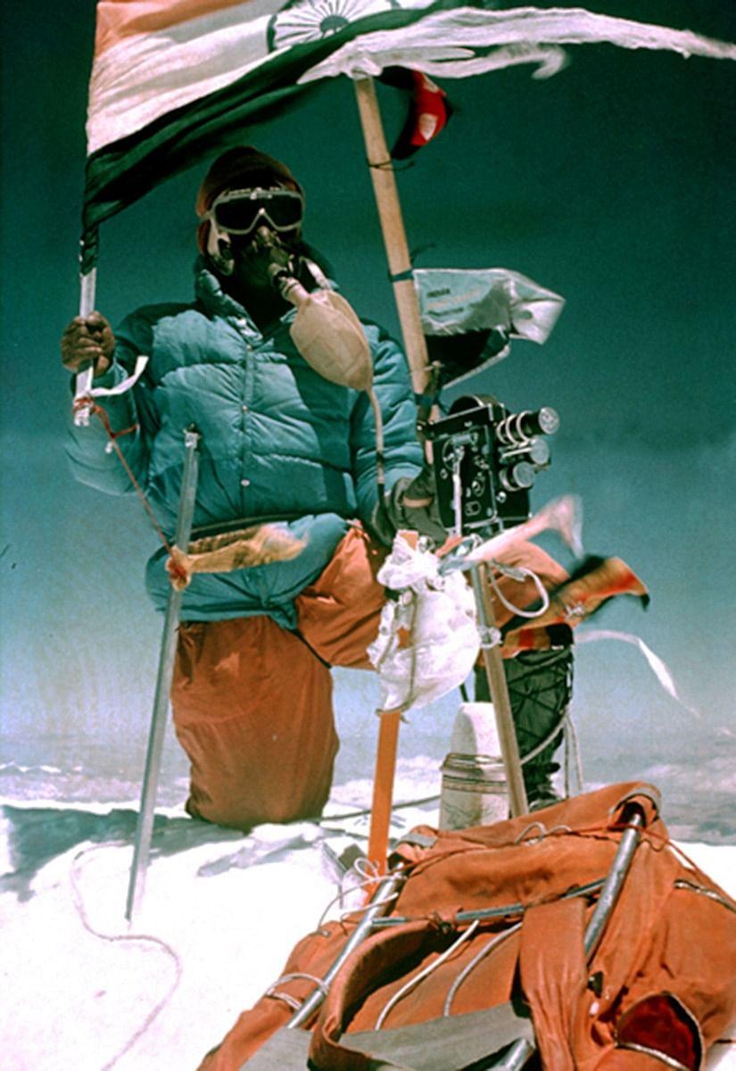 C P Vohra on the peak of Mount Everest