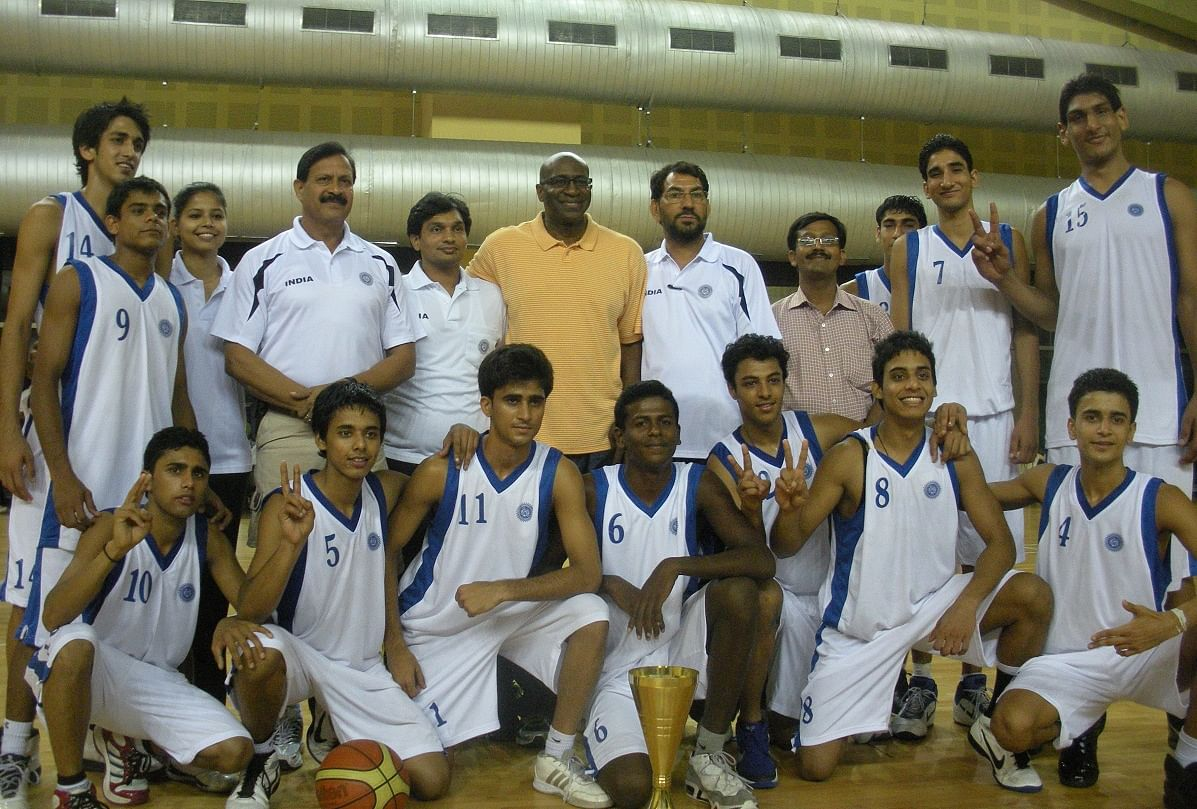Satnam Singh Standing Extreme Right