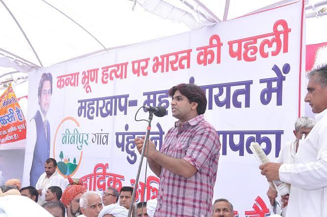 Sunil Jaglan was appointed as sarpanch of Bibipur village in 2010.
