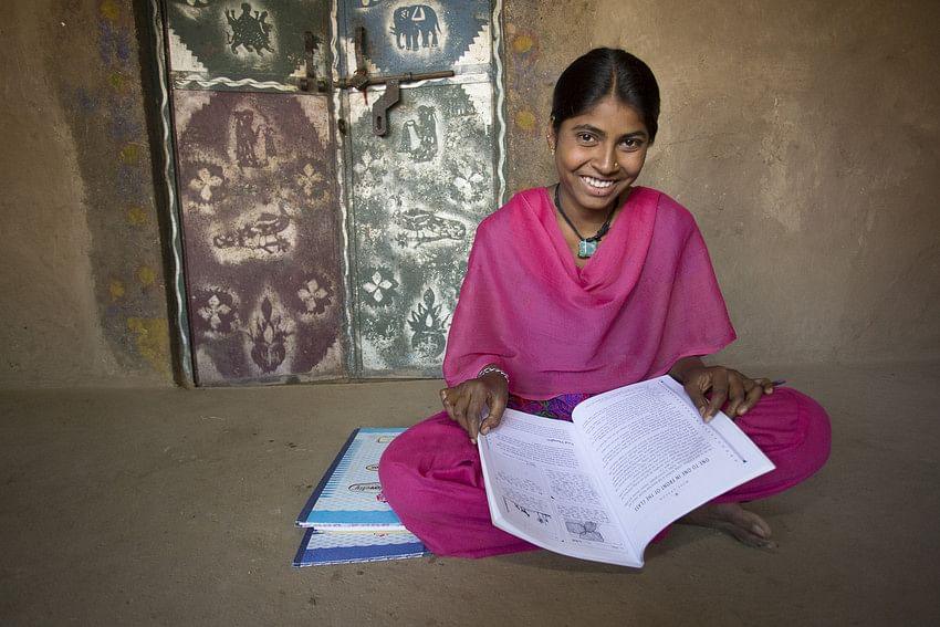 Sheela (19) is one of 250 girls throughout India that have benefitted from the Udaan (âFlightâ) scholarship program for post-secondary education.  Thanks to the ChildFund program, she is now studying to be a nurse Udaipur Dist. - ChildFund India â January, 2015.Photo by Jake Lyell