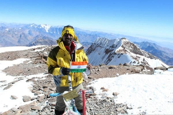 Atop Summit of Aconcagua.