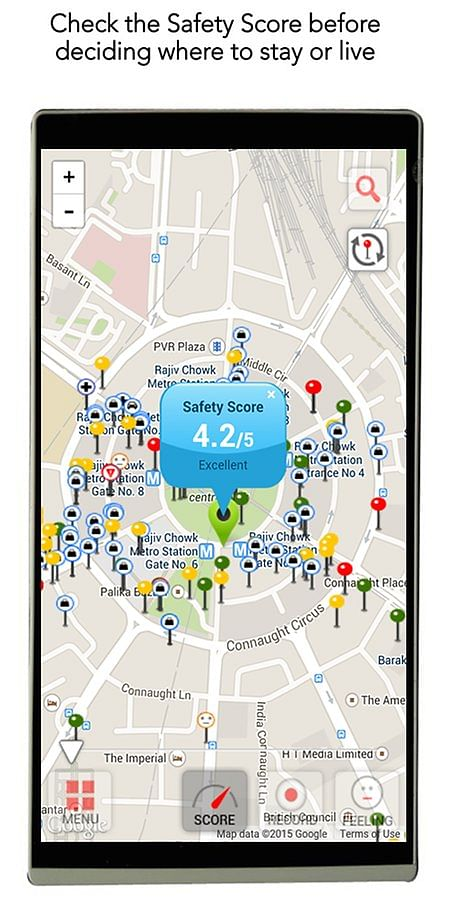 Users can mark safe places according to various parameters.