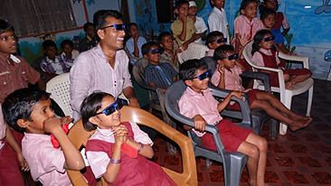 Sandip's classes are fun and students can't wait to come to school.