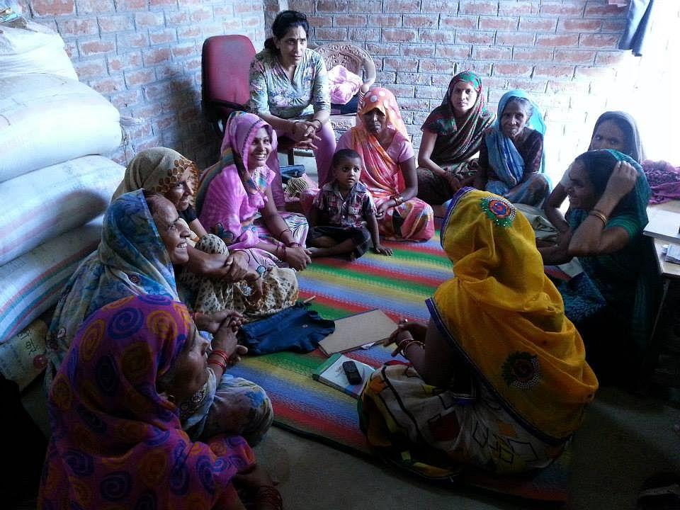 Women in a auido drama workshop - co-writing the scripts for FREE/DEM at Waqt ki Awaaz, Kanpur