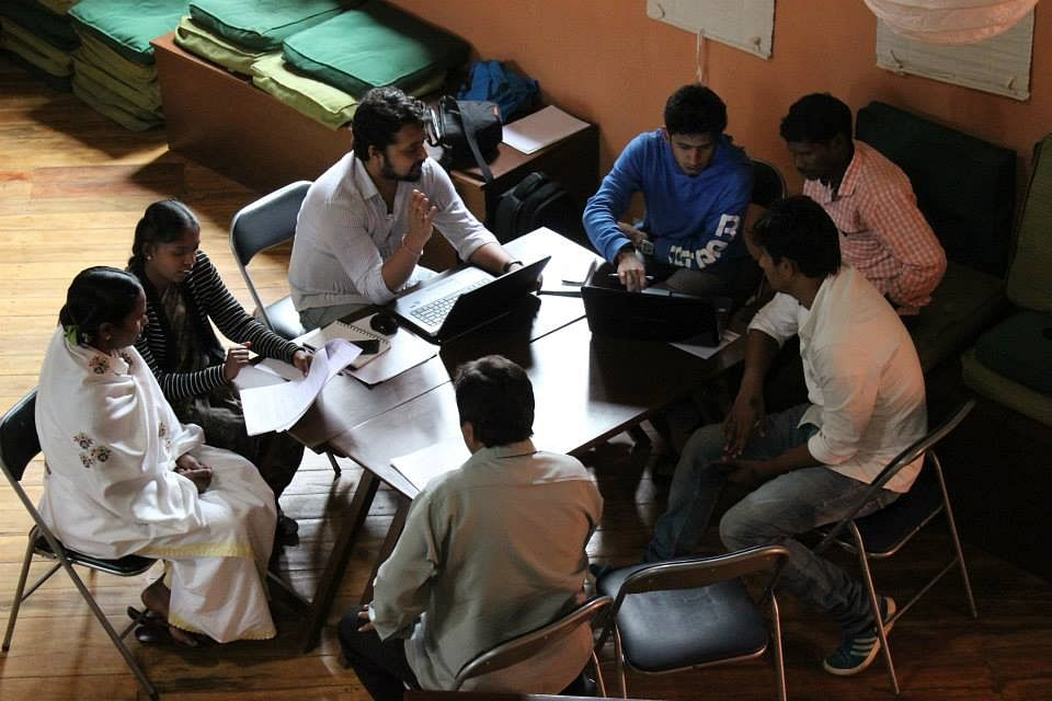 In training- with the Ideosync team- at Radio Kotagiri