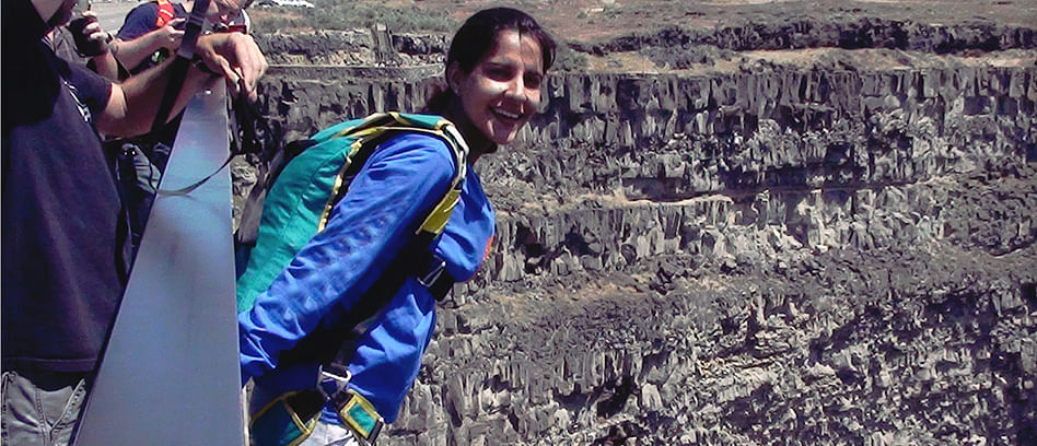 Archana Sardana, a 40-year-old adventure enthusiast, is India's first woman civilian Building Aerial Span Earth (BASE) jumper.