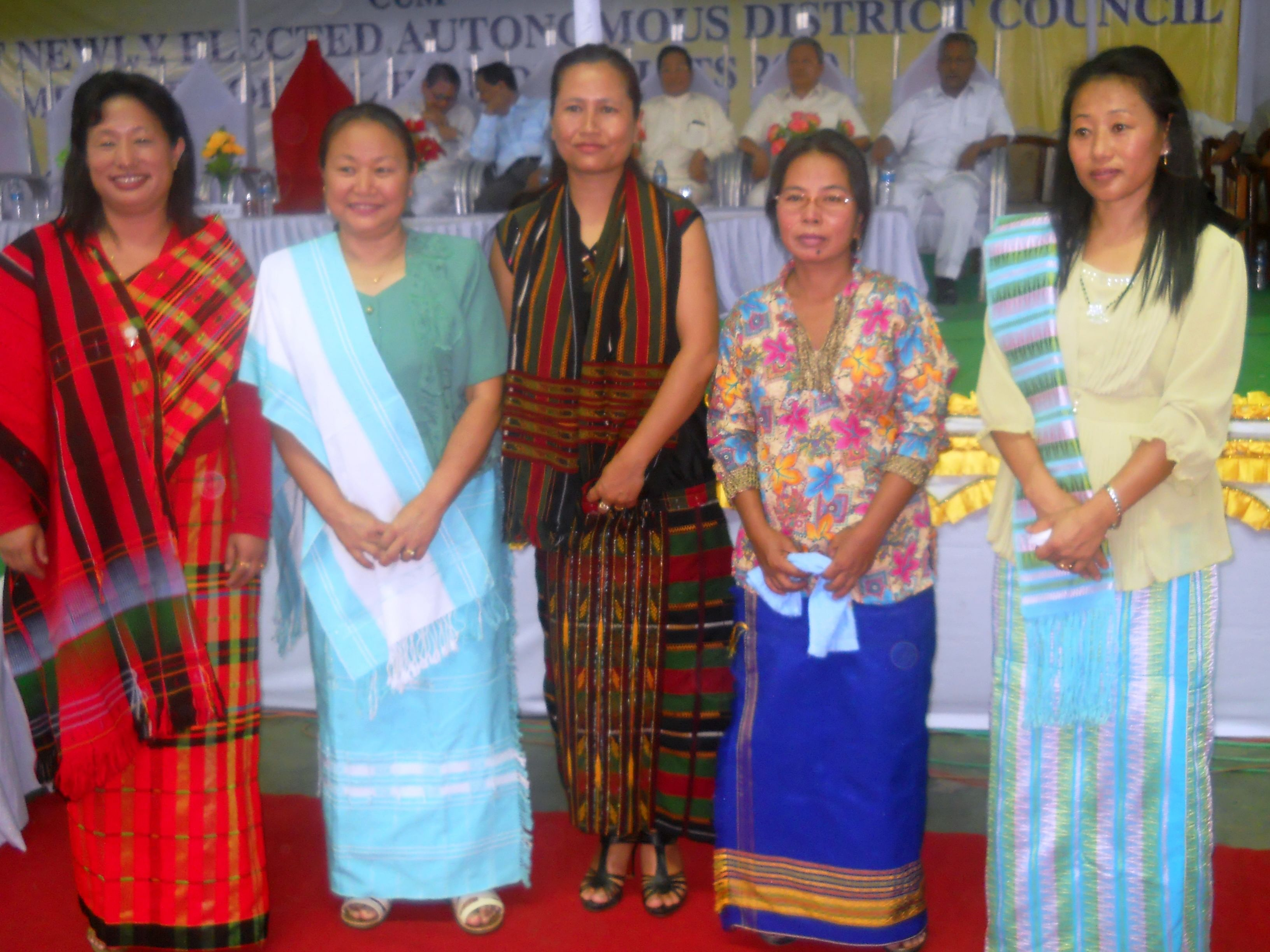 Hatlhing Doungel (second from right) is among the handful of women members – elected or nominated – on the six ADCs that are functioning in the five hill districts of Manipur. (Courtesy: Hatlhing Doungel)