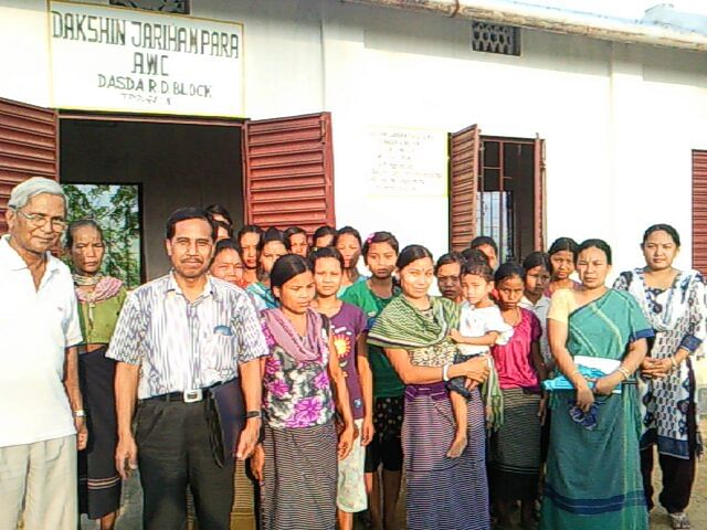 Elected to the Tripura Tribal Areas Autonomous District Council Sandhya Rani Chakma (second from right) is the only woman on its nine-member Executive Council. (Credit: TTAADC Khumulwng)