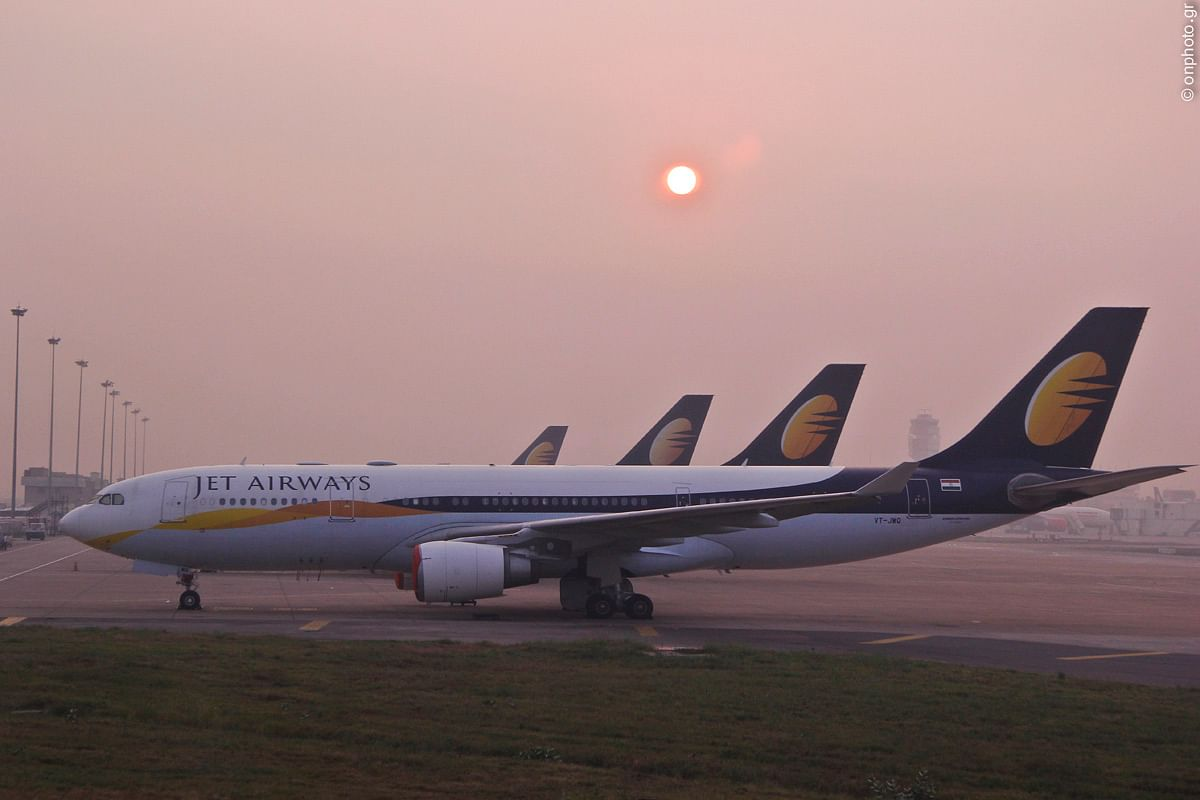 """JetAirways - Sunrise"" by Nikolaos Oikonomou - Own work."