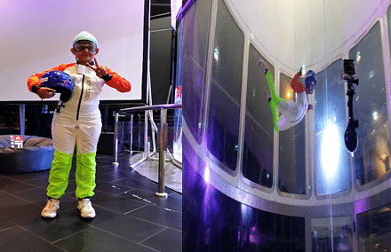 Poorva was one of the 14 kids who created the world record in indoor sky diving.