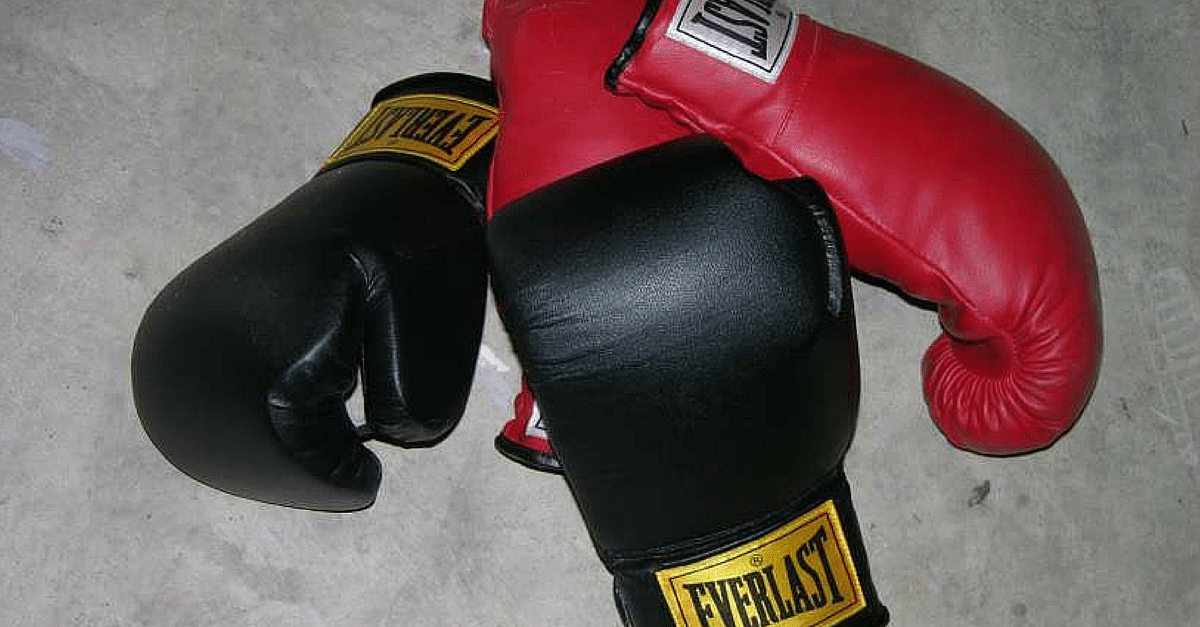 """Boxing gloves"" by en:User:Andman8 - English wikipedia, en:Image:Boxinggloves.jpg. Licensed under CC BY 2.5 via Wikimedia Commons"