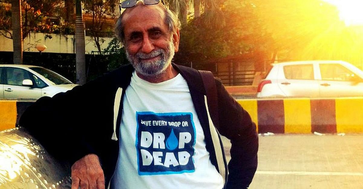 This 80-Year-Old Goes from One Building to Another Saving Every Drop of Water He Can