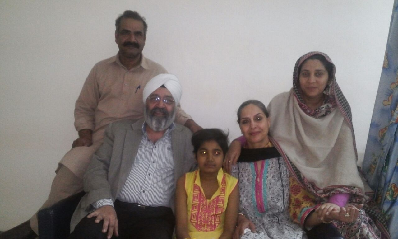 (From left) Mr. Imran, Mr. Kohli, Abeeha, Mrs. Kohli, Mrs. Imran