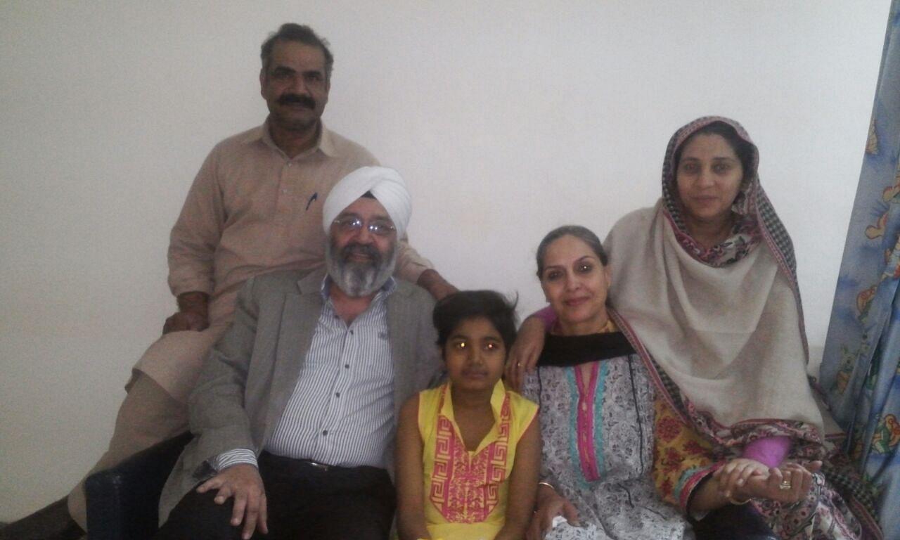 (From left) Mr. Imran, Mr. Kohli, Abeeha, Mrs. Kohli, Mrs. Imran
