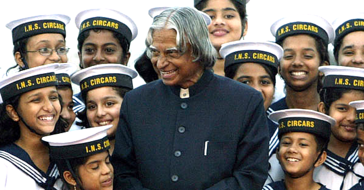 abdul kalam with childrens