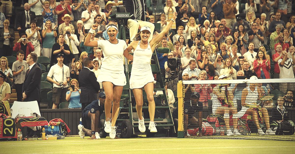 Sania Mirza & Martina Hingis Wimbledon 2015