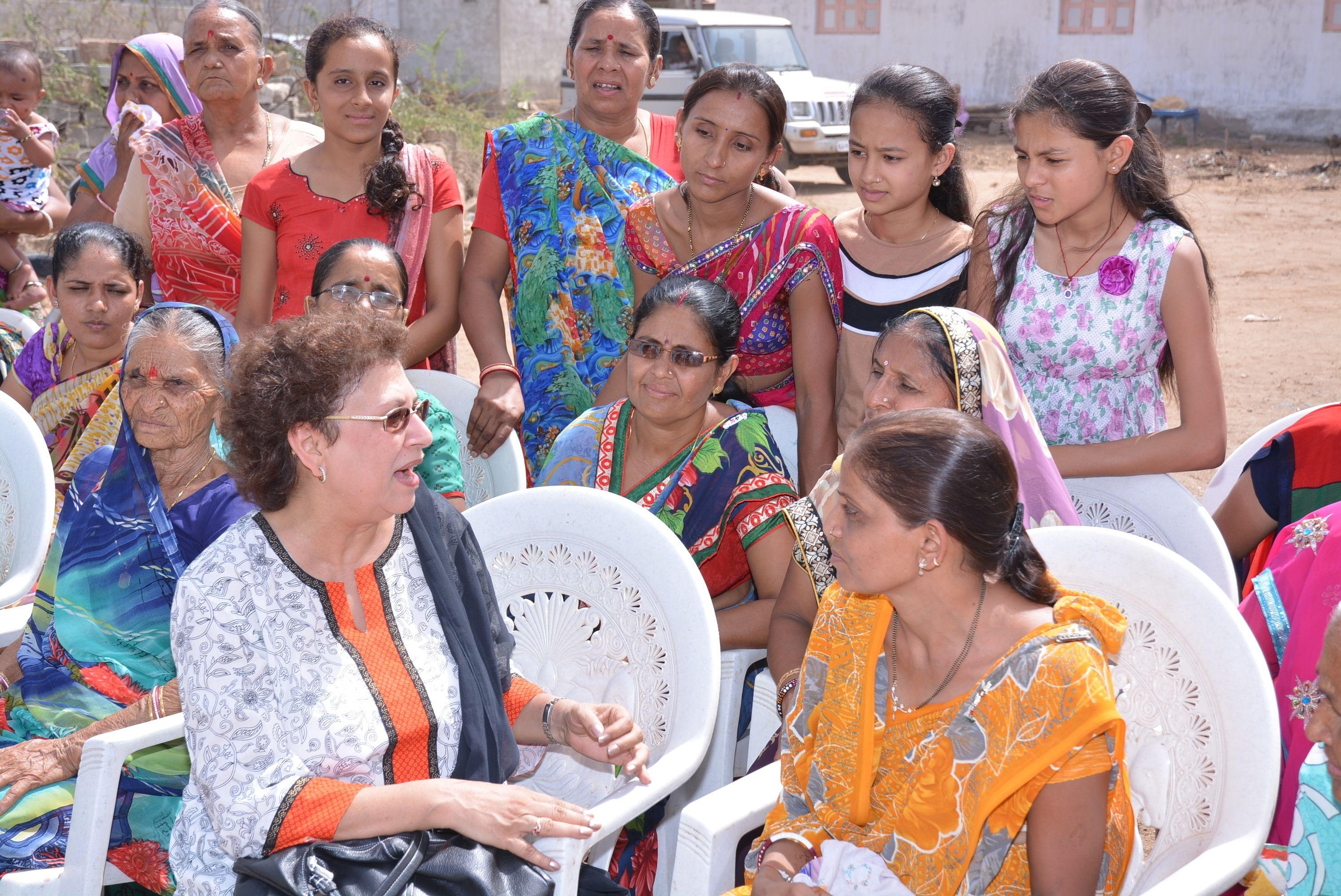 Happy residents of Gandhigram