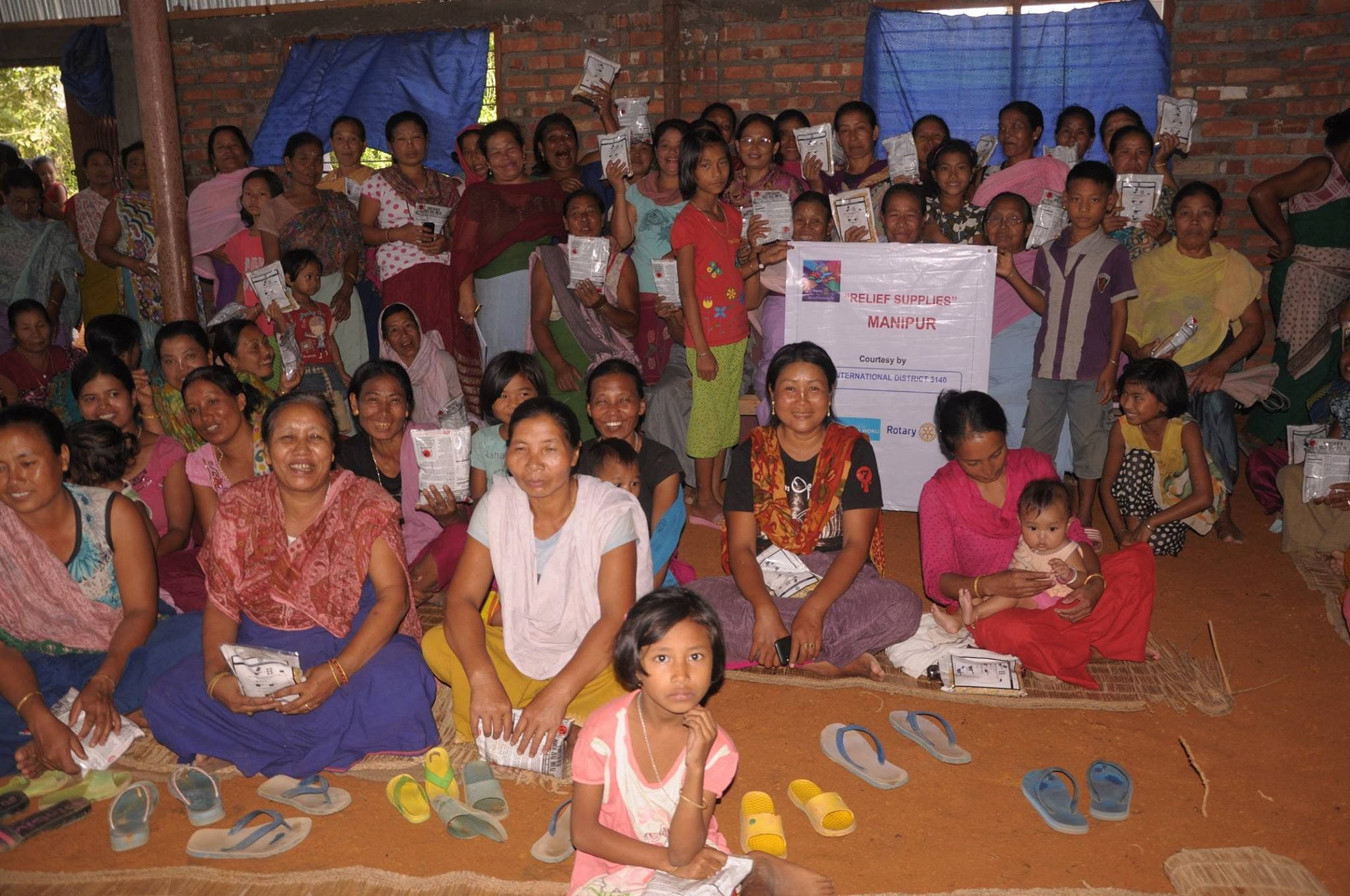 Many organizations have joined hands to distribute relief material in Manipur.