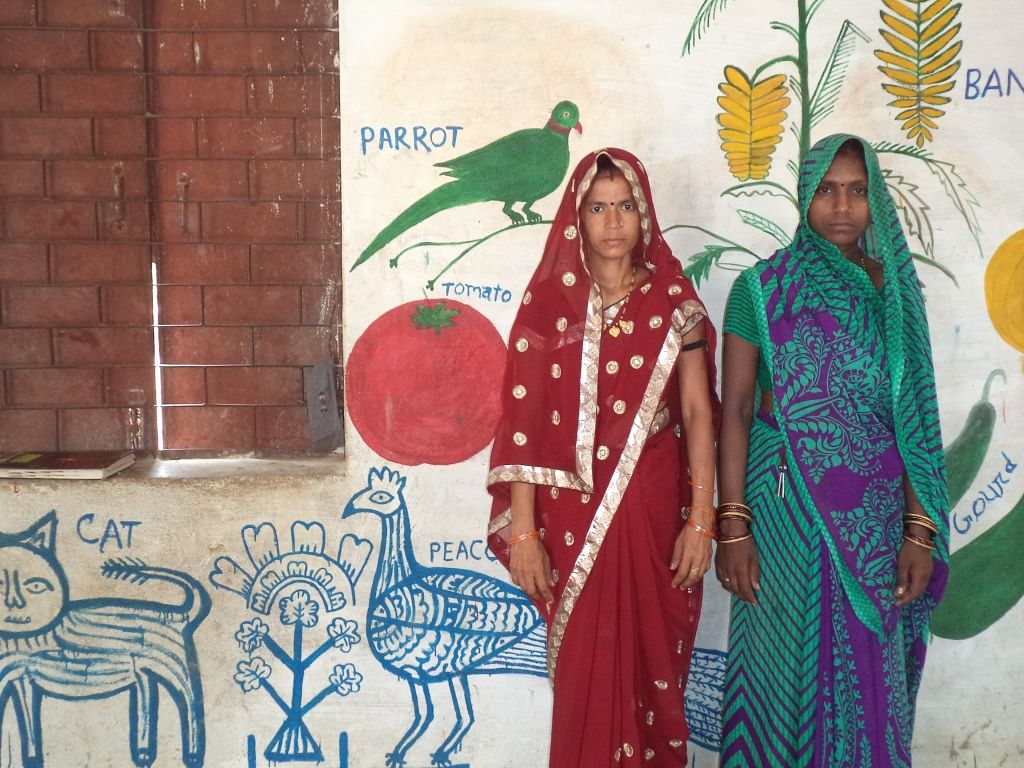 In Bhatari village, in Morena, the ASHA and Sahayika are now able to discharge their duties better as the men of the area ensure that their wives receive proper nutrition from the anganwadi during pregnancy and go for institutional delivery. (Credit: Chetna Verma\WFS)