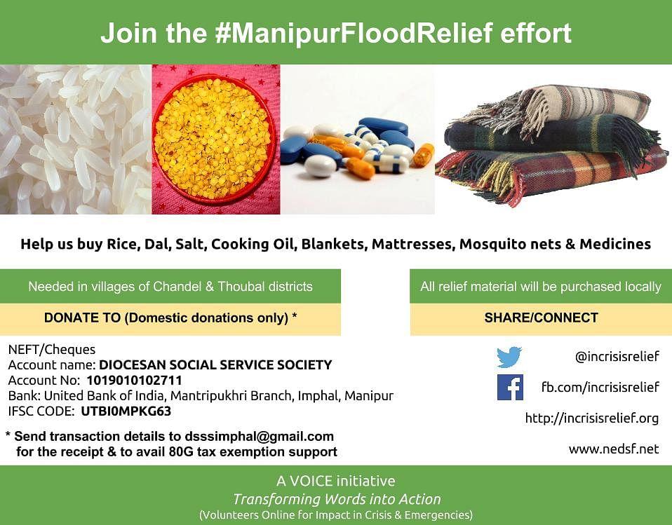 #ManipurFloodRelief - Donations