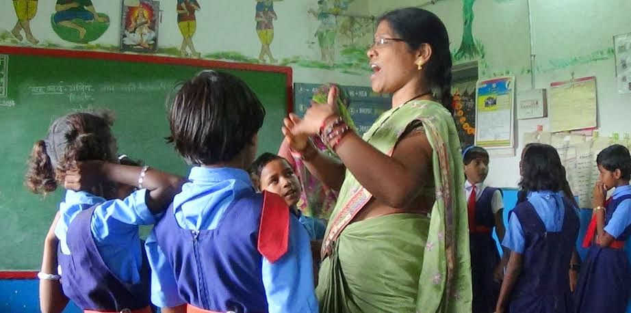 The Government Primary School in Motwada village in Kanker district, Chhattisgarh, brings a wave of fresh change as women teachers and a committed headmistress make learning fun for students here. (Credit: Purusottam Singh Thakur\WFS)